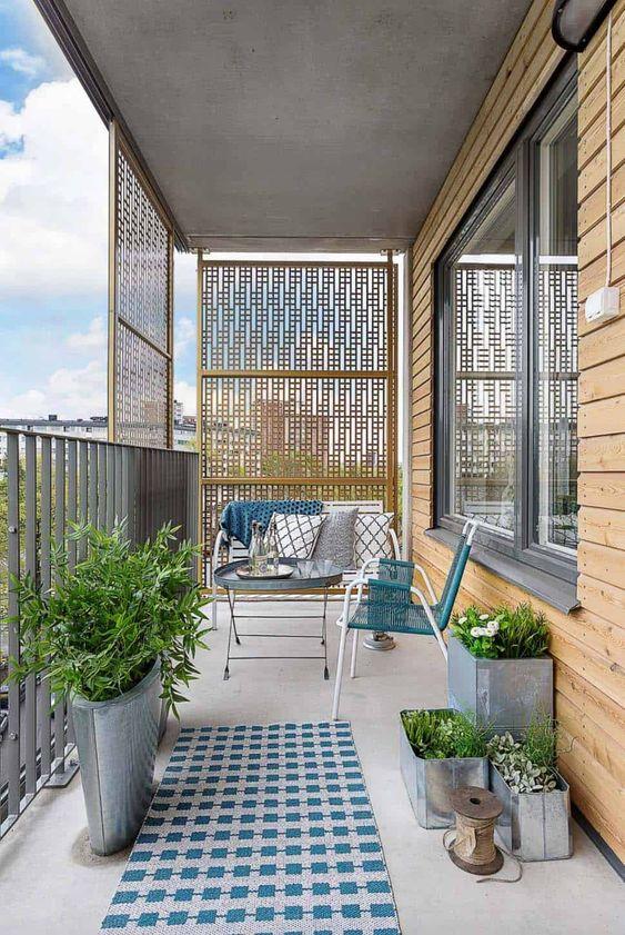 Scandinavian balcony exterior design