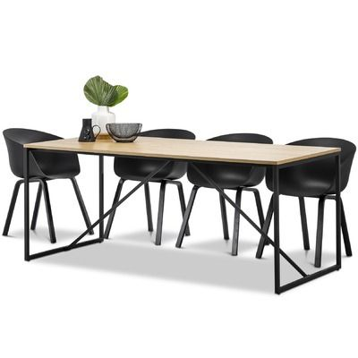 Plastic materials dining table sets