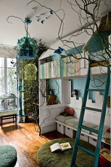 Fairy forest kid's bedroom decorating ideas