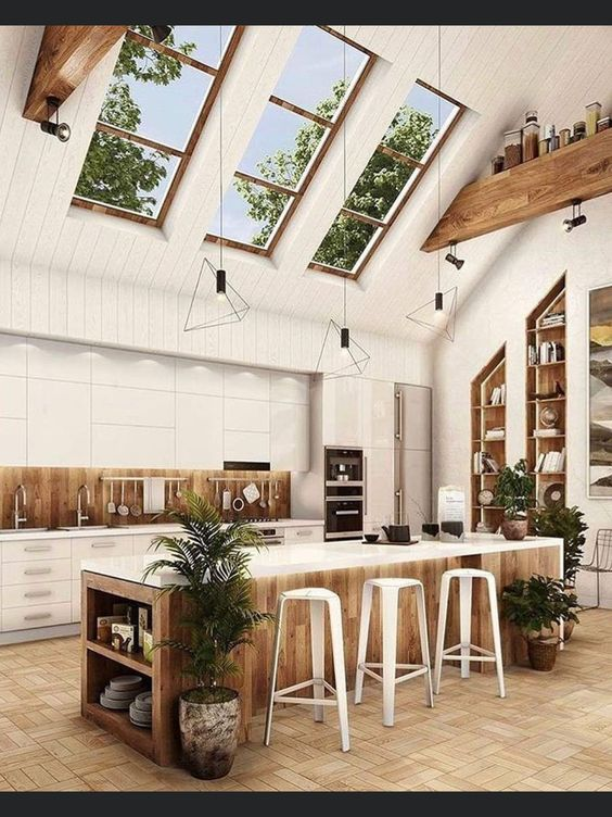 Rustic design with natural elements