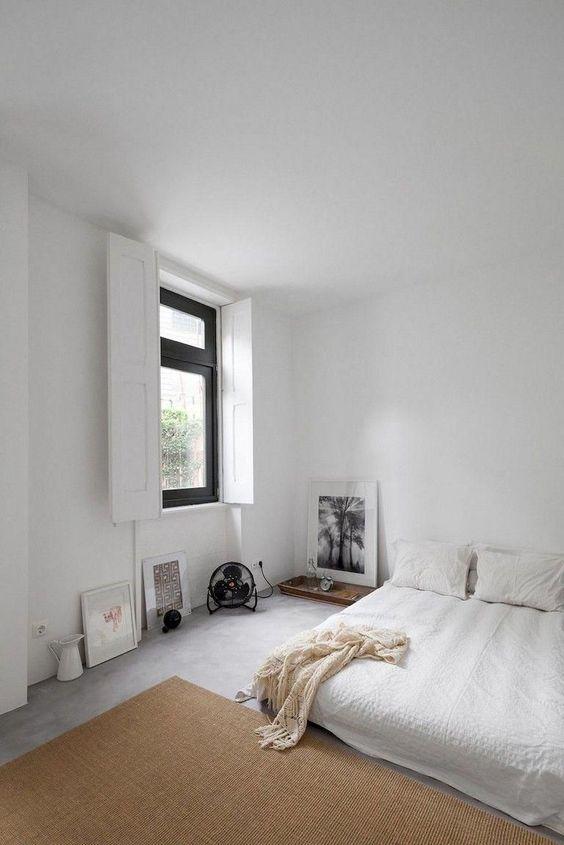 Simple minimalist rustic bedroom design