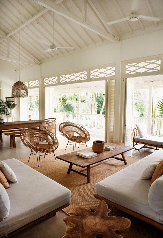 Beige color accent tropical design ideas