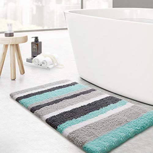 Fluffy bathroom mat