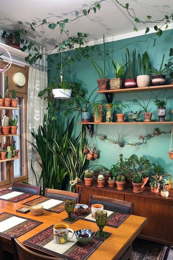 Aesthetic fairy forest interior design ideas with plants decorations