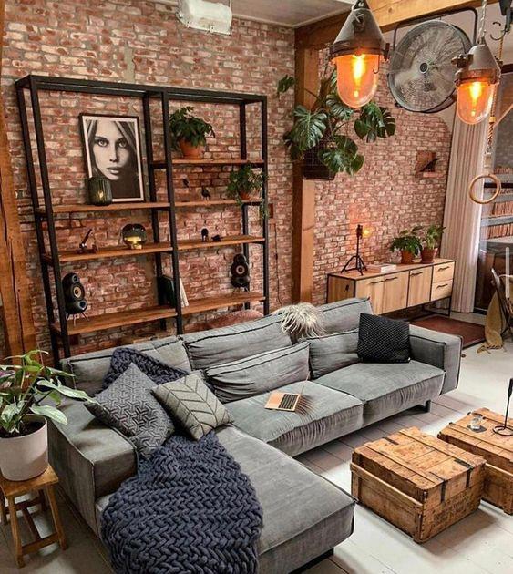Vintage rustic living room design