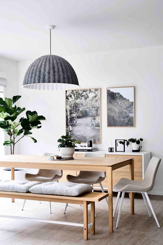Grey Scandinavian dining room design ideas
