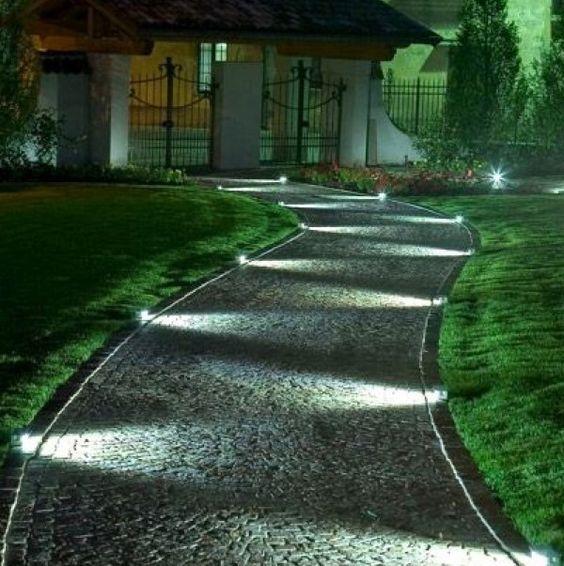 Beautiful path lighting