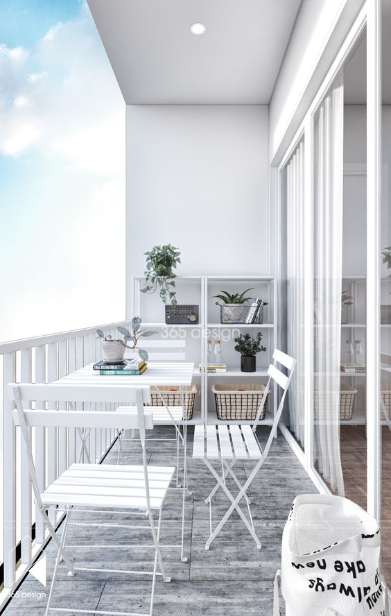 Scandinavian balcony design ideas