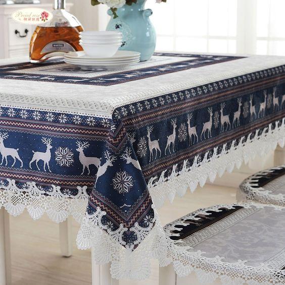 Scandinavian dark blue tablecloths recommendations