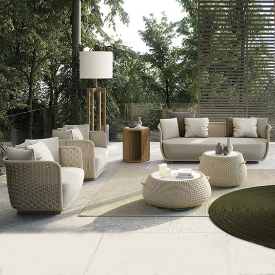 Scandinavian rattan furniture materials