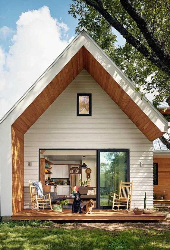 Modern Scandinavian home exterior characteristic