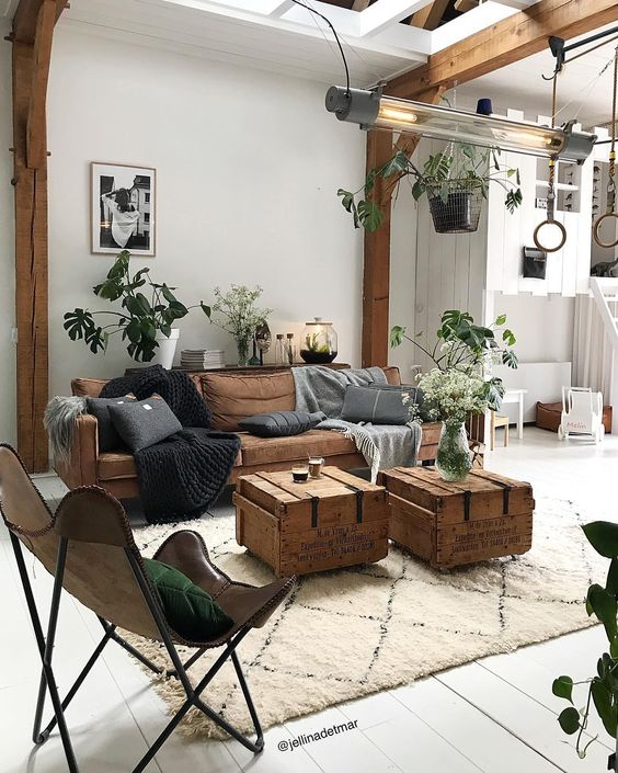 Fresh air circulation with bright impression living room