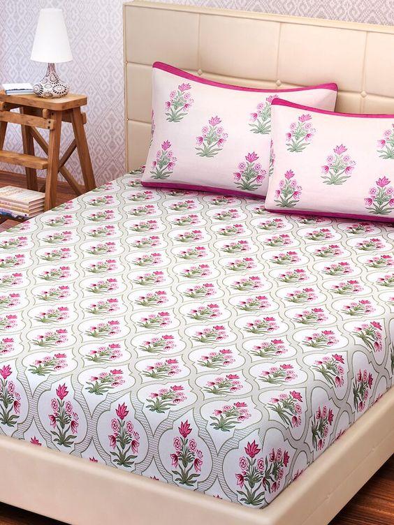 Scandinavian floral bedsheets