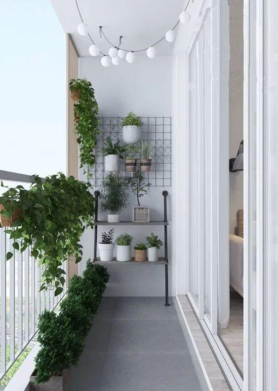 Scandinavian balcony decorating design ideas