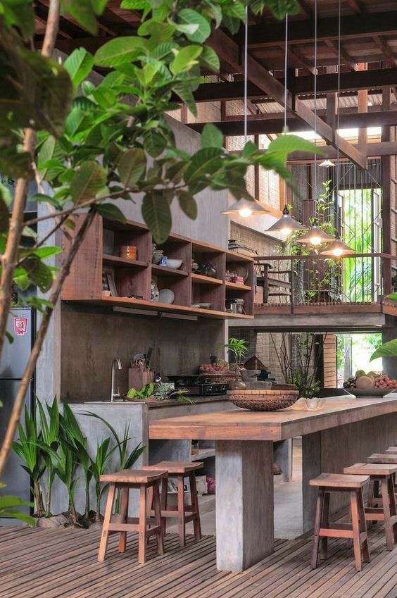 Rustic tropical kitchen