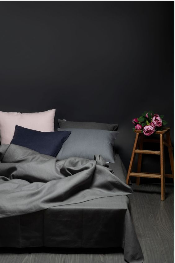 Scandinavian dark concept bedsheets recommendations
