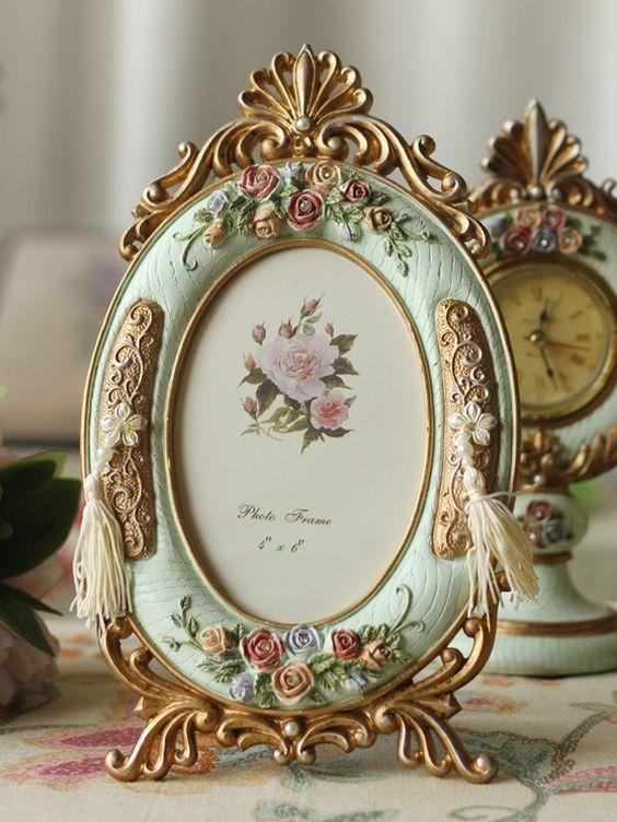 A vintage photo frame is suitable as a decoration