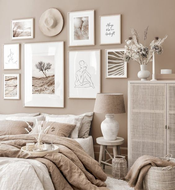 Rustic vintage beige color decorating ideas