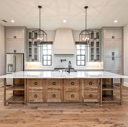 Simple and classic modern rustic kitchen style