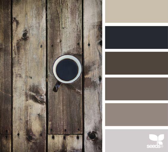 Wooden paint color palette