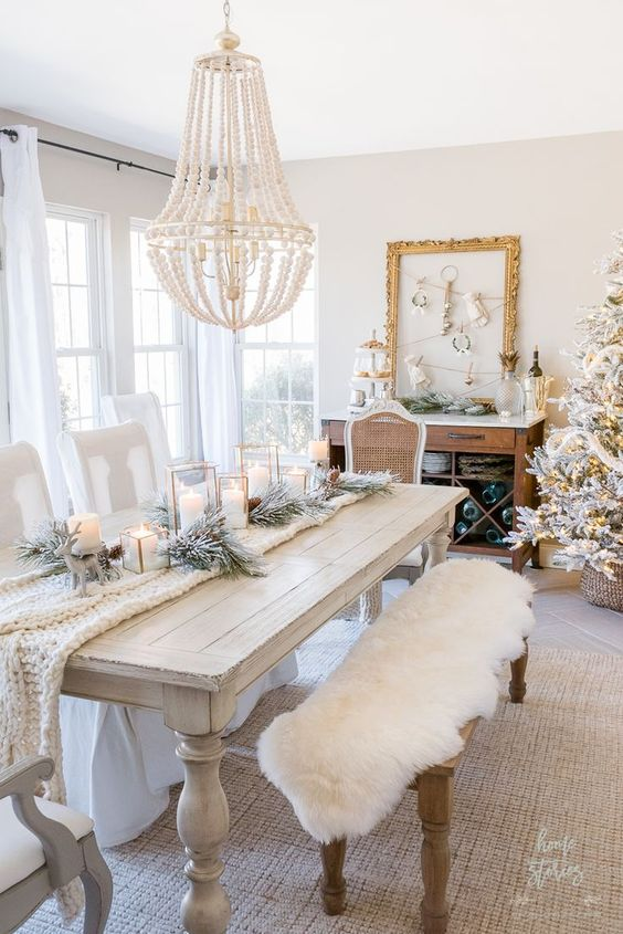 Luxury rustic dining room interior style