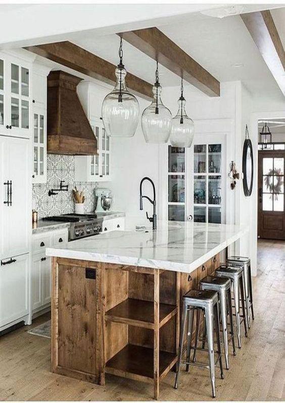 Minimalist modern rustic kitchen style