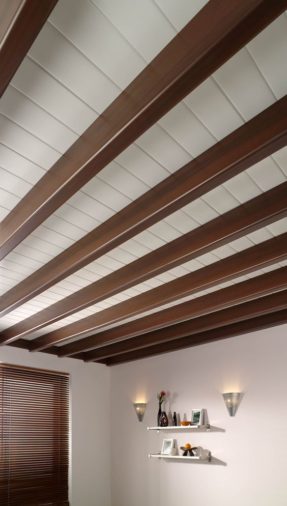 Natural ceiling wooden texture