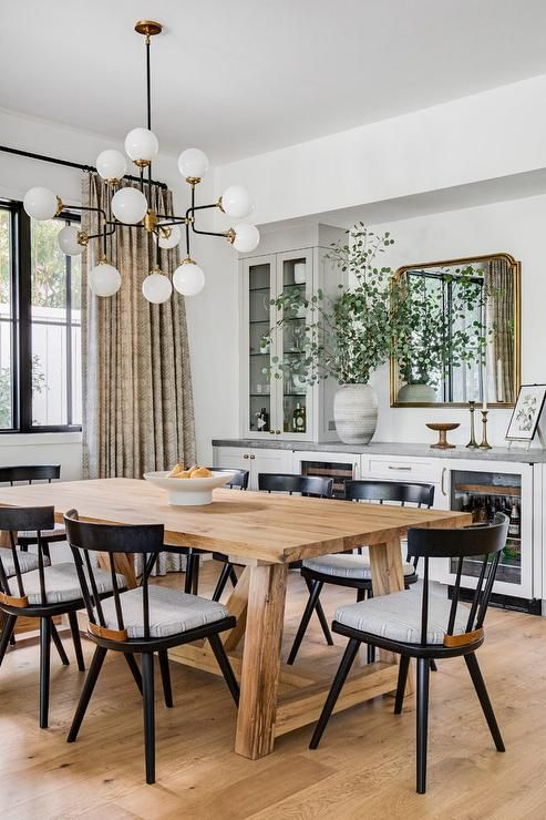 Modern rustic dining room interior style