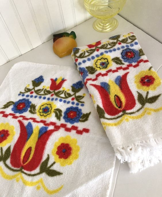 Terry cloth dish towels