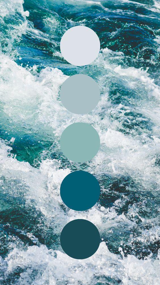 Ocean color palettes