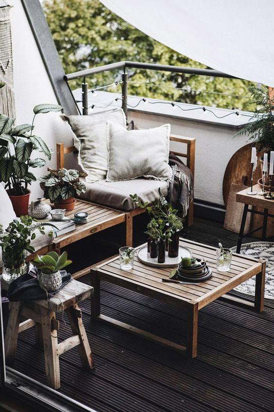 Outdoor balcony rustic exterior