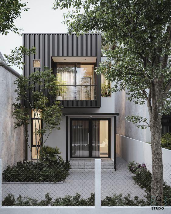 Grey wall textured exterior
