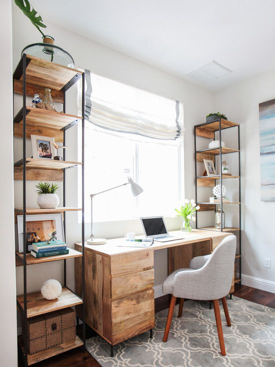 Simple Scandinavian industrial home office