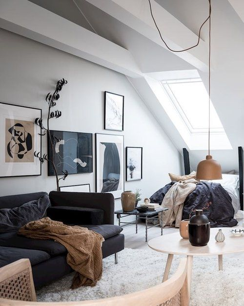 Simple and cozy studio apartment style