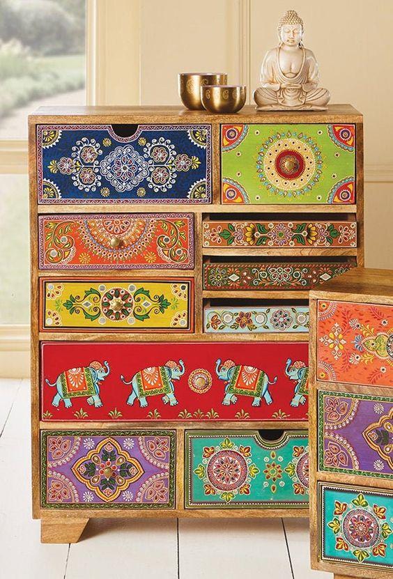 Bohemian unique drawer patterns