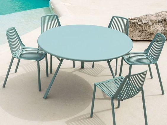 Blue plastic industrial furniture