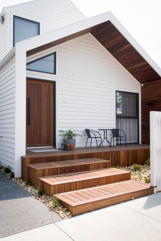 White wooden cladding beautifying a home exterior
