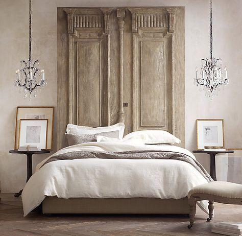 Light brown industrial chic bedroom concept
