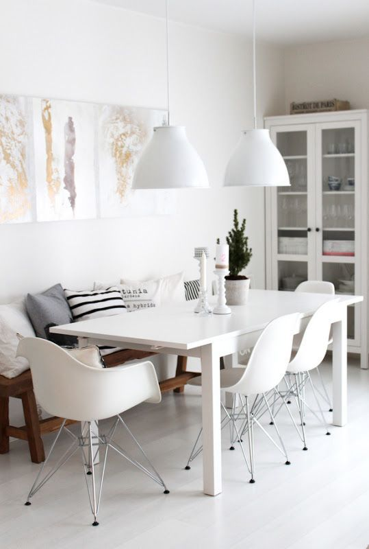 White and other colors minimalist industrial room decoration