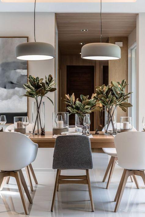 Cozy Scandinavian industrial dining room