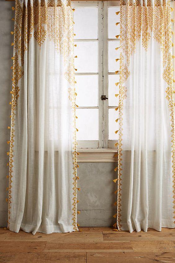 Simple bohemian curtain