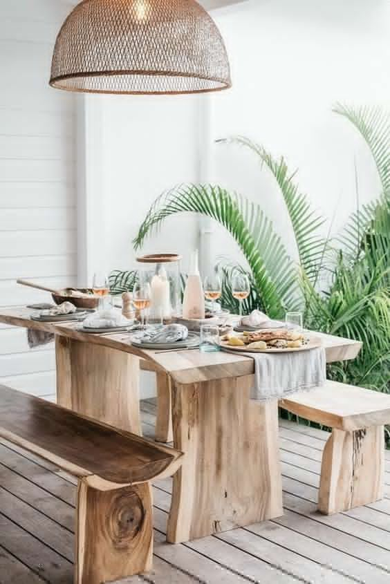 Wooden natural outdoor furniture