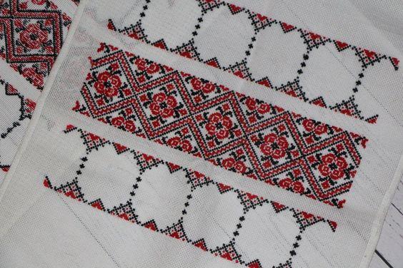 Red bohemian pattern