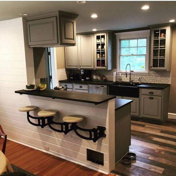 Warm industrial kitchen design