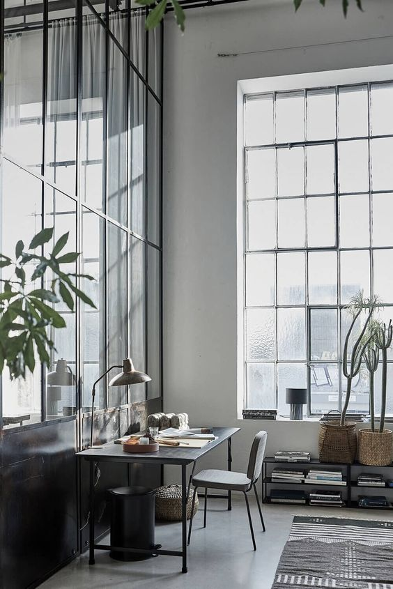 High window in the home office