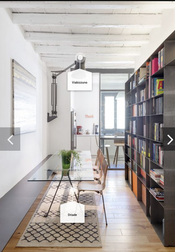 Black big Scandinavian industrial bookshelf