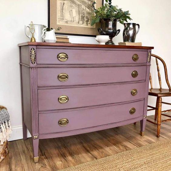 Pink industrial vintage dresser