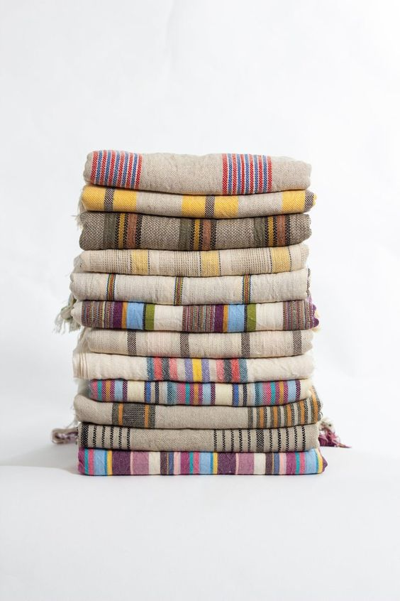 Colorful stripped patterns kitchen towel