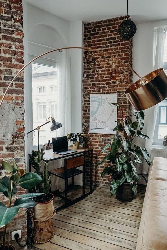 Bohemian industrial working room