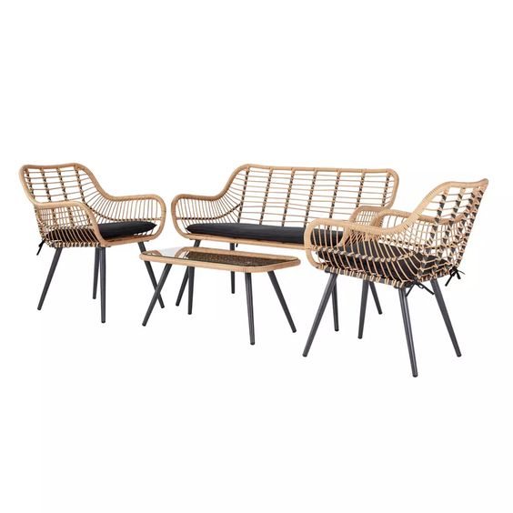 Rattan Chair For An Industrial Style
